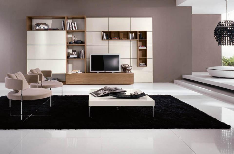 Soggiorni moderni, mobili soggiorno con librerie moderne